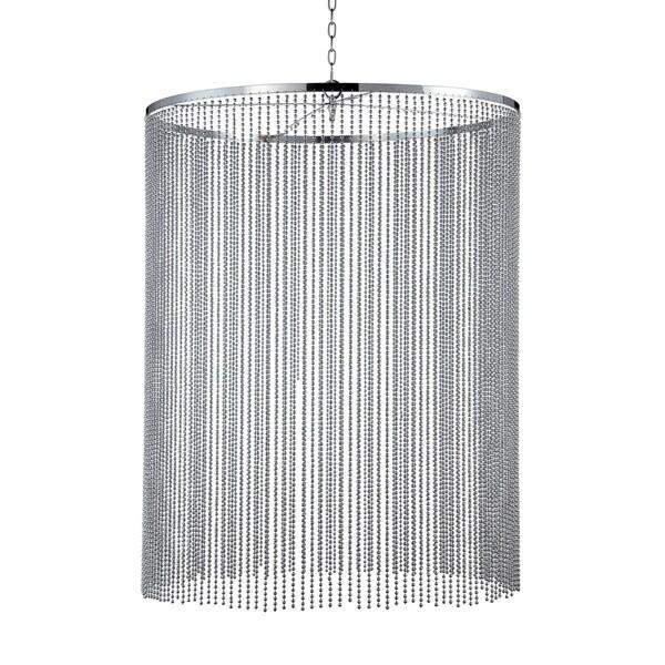 Eurofase Bloomington Small Beaded Curtain Light Pendant, Chrome Finish - 26629-025