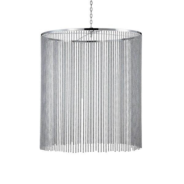 Eurofase Bloomington Large Beaded Curtain Light Pendant, Chrome Finish - 26630-021