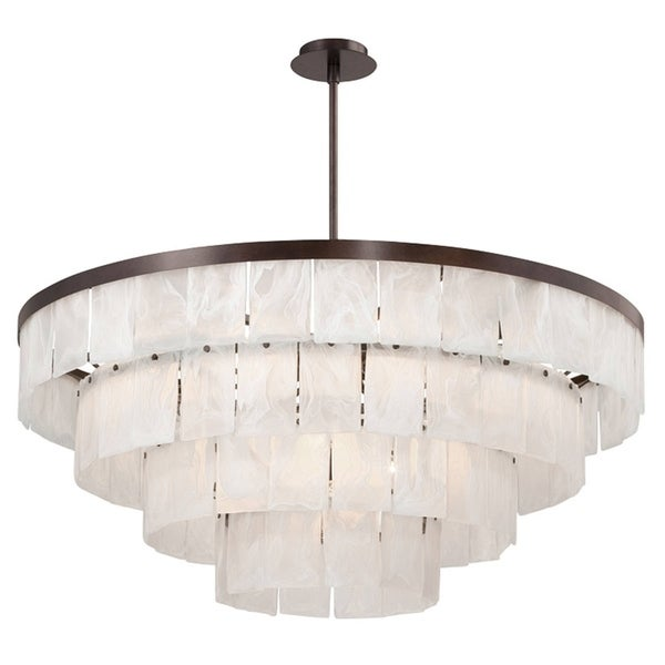 "Eurofase Hainsworth 16-Light Chandelier, Bronze Finish - 28049-012 - 18"" high x 41.25"" in diameter"