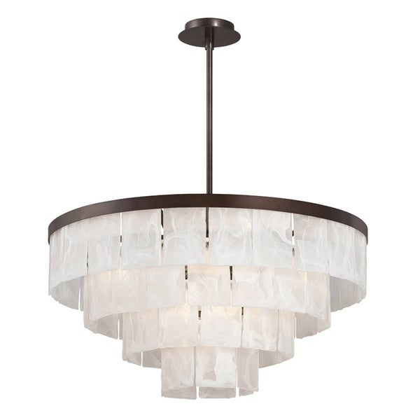 Eurofase Hainsworth 8-Light Chandelier, Bronze Finish - 28047-018