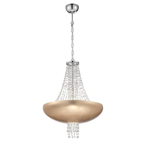 """Eurofase Lopez 9-Light Pendant, Gold Foil Finish - 28108-030 - 26.5"""" high x 21"""" in diameter"""