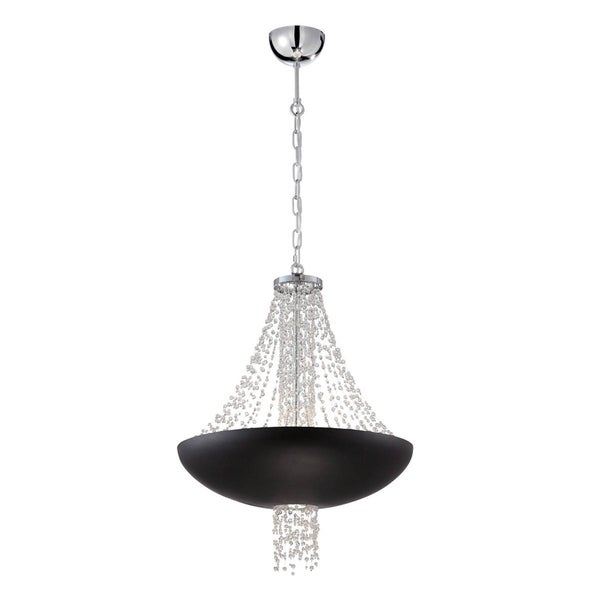 "Eurofase Lopez 9-Light Pendant, Matte Black Finish - 28108-016 - 26.5"" high x 21"" in diameter"