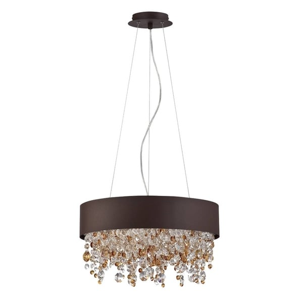 "Eurofase Romanelli 4-Light Chandelier, Bronze Finish - 28149-026 - 5.25"" high x 17.75"" in diameter"