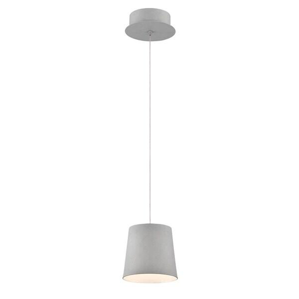 "Eurofase Borto 1-Light LED Pendant, Grey Finish - 28161-035 - 8.25"" high x 6"" in diameter"