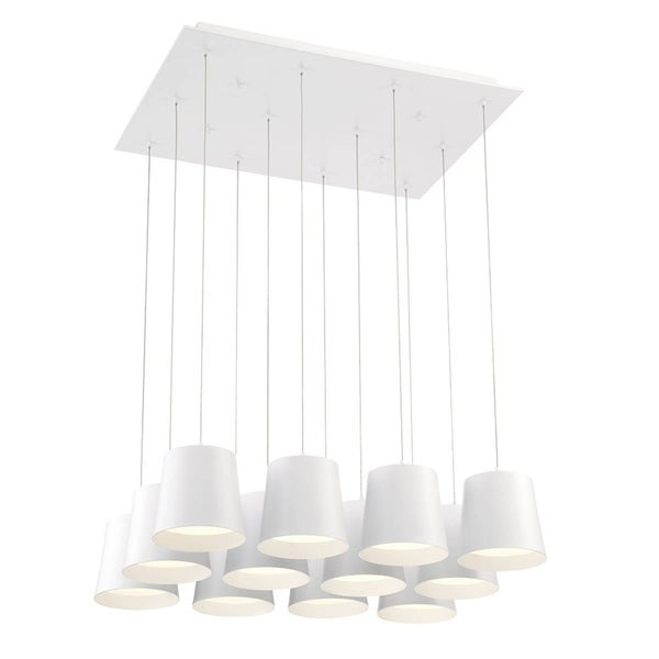Eurofase Borto 12-Light LED Chandelier, White Finish - 28164-012
