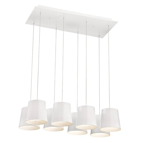 Eurofase Borto 8-Light LED Chandelier, White Finish - 28163-015