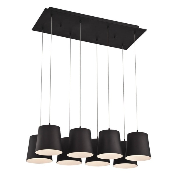 Eurofase Borto 8-Light LED Chandelier, Black Finish - 28163-022