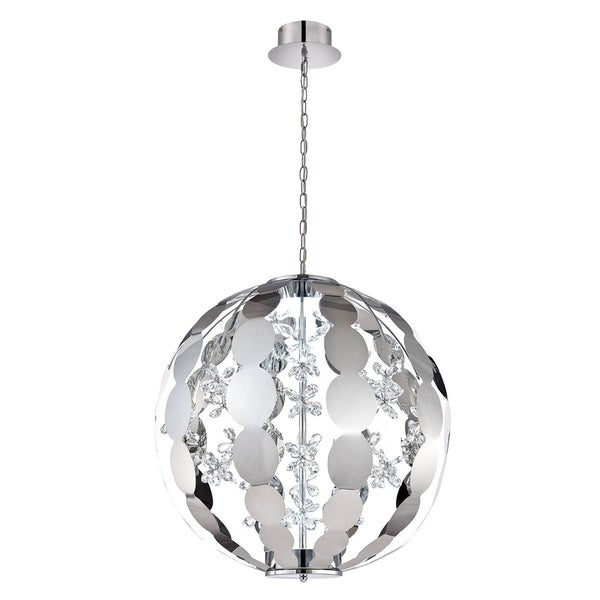 Eurofase World 2-Light LED Chandelier, Chrome Finish - 28160-014