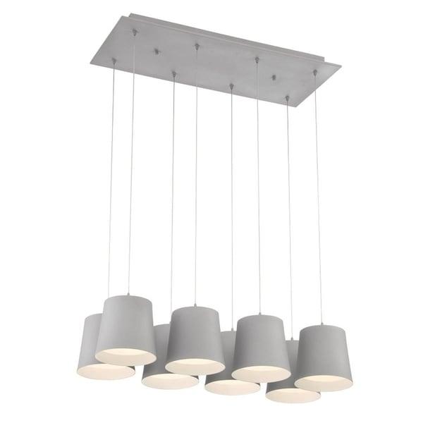 Eurofase Borto 8-Light LED Chandelier, Grey Finish - 28163-039