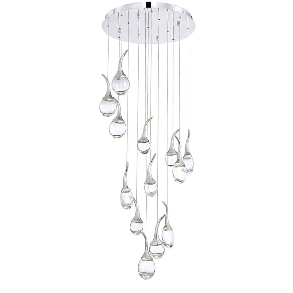 Eurofase Oz 13-Light LED Chandelier, Chrome Finish - 28158-011