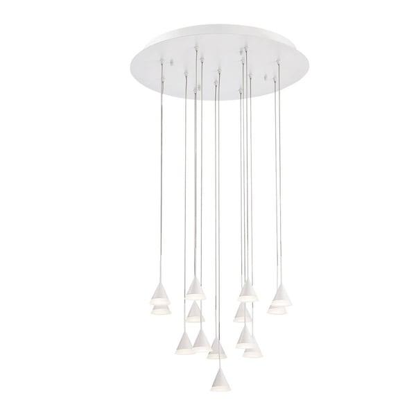 Eurofase Albion 14-Light LED Chandelier with White Finish - 28177-012