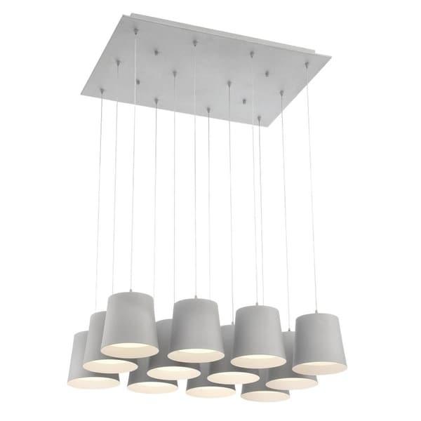 Eurofase Borto 12-Light LED Chandelier, Grey Finish - 28164-036