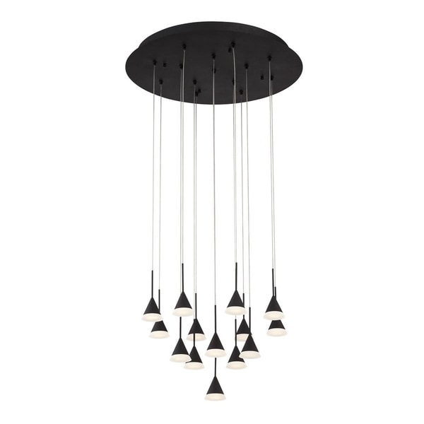 Eurofase Albion 14-Light LED Chandelier with Black Finish - 28177-029