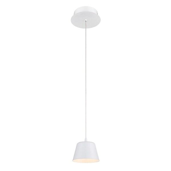 Eurofase Bowes 1-Light LED Pendant, Matte White Finish - 28237-020
