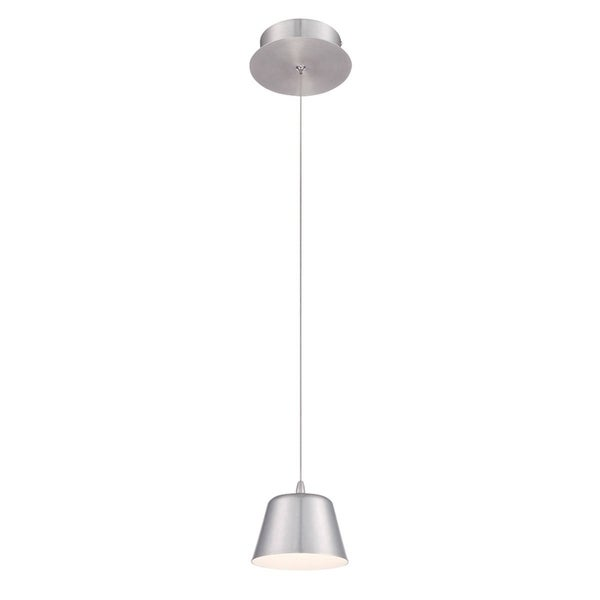 "Eurofase Bowes 1-Light LED Pendant, Aluminum Finish - 28237-037 - 4"" high x 4.75"" in diameter"