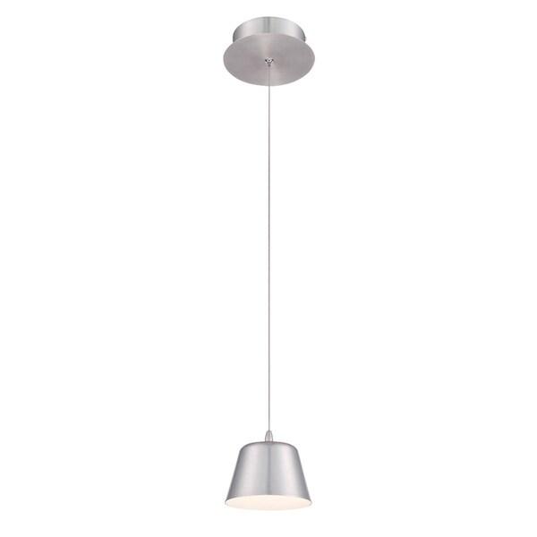 Eurofase Bowes 1-Light LED Pendant, Aluminum Finish - 28237-037
