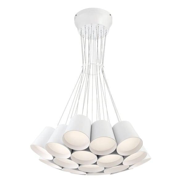 Eurofase Borto 19-Light LED Chandelier, White Finish - 28165-019