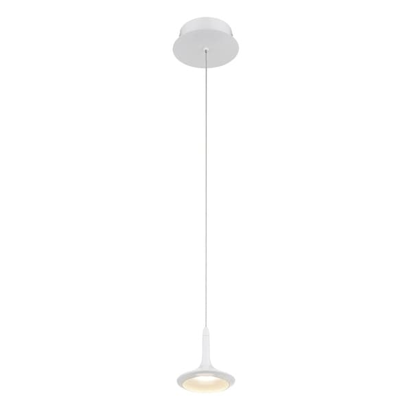 Eurofase Knoll 1-Light LED Pendant, Matte White Finish - 28238-027