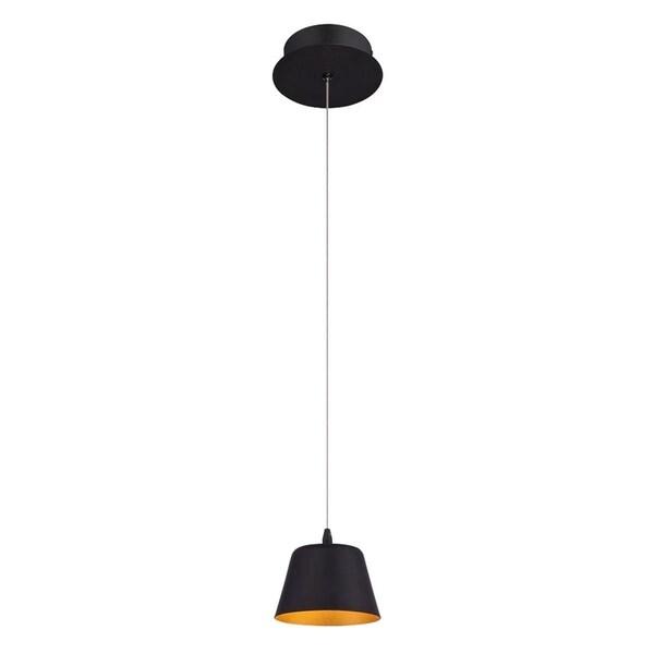 "Eurofase Bowes 1-Light LED Pendant, Matte Black Finish - 28237-013 - 4"" high x 4.75"" in diameter"