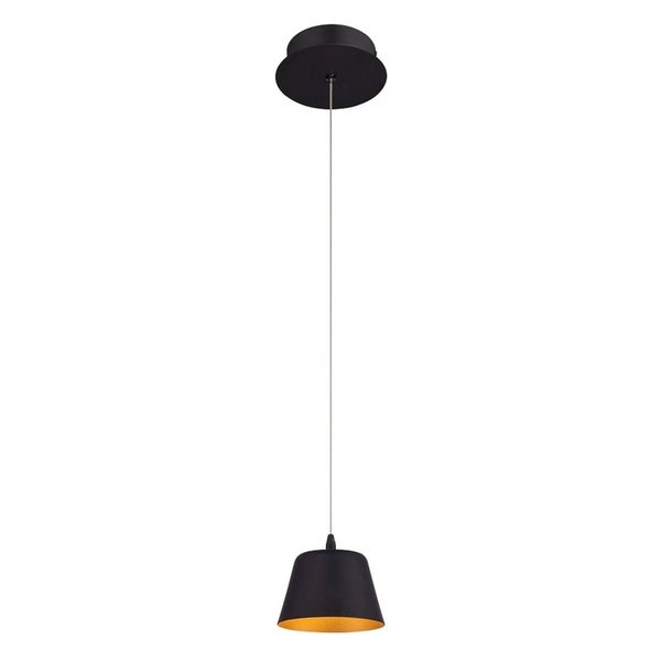 Eurofase Bowes 1-Light LED Pendant, Matte Black Finish - 28237-013