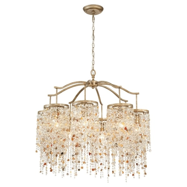Eurofase Savannah 8-Light Chandelier, Antique Bronze Finish - 28317-013