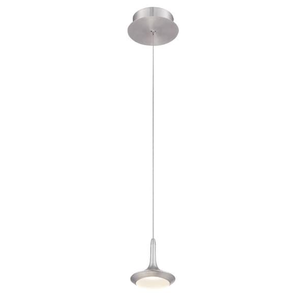 Eurofase Knoll 1-Light LED Pendant, Aluminum Finish - 28238-034