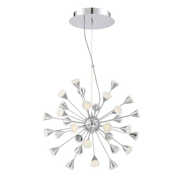 Eurofase Esplo 32-Light LED Chandelier, Chrome Finish - 29027-019
