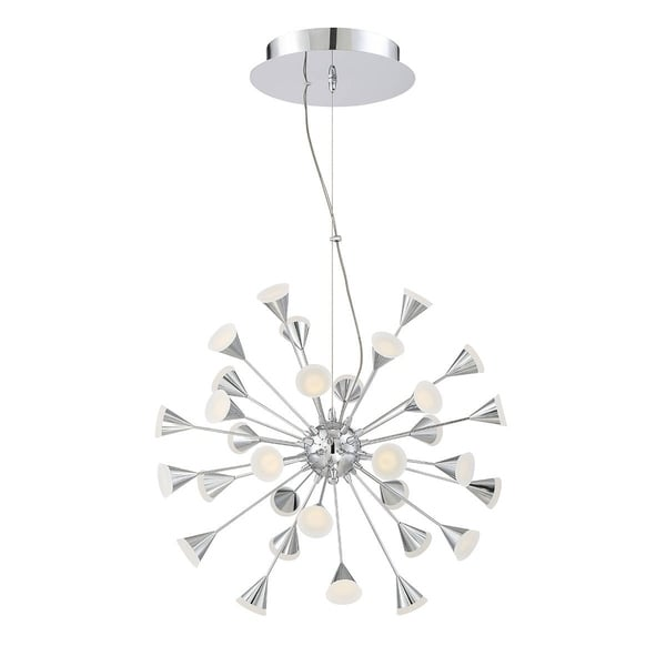"Eurofase Esplo 32-Light LED Chandelier, Chrome Finish - 29027-019 - 26.75"" high x 24.75"" in diameter"