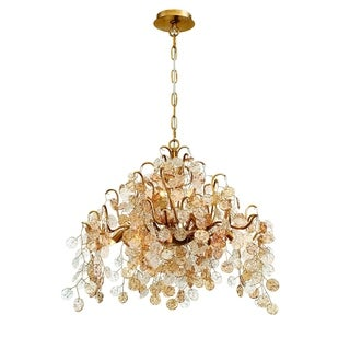 Eurofase Campobasso 11-Light Chandelier, Gold Finish