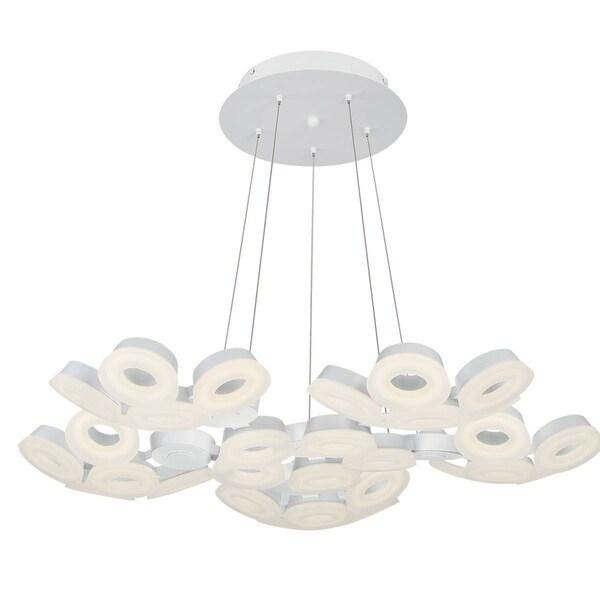 """Eurofase Glendale 30-Light LED Chandelier, White Finish - 29094-011 - 5.5"""" high x 35.25"""" in diameter"""