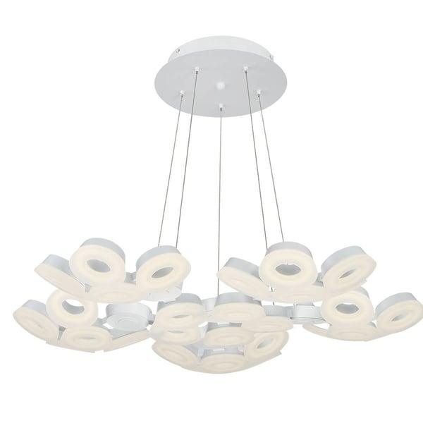 Eurofase Glendale 30-Light LED Chandelier, White Finish - 29094-011