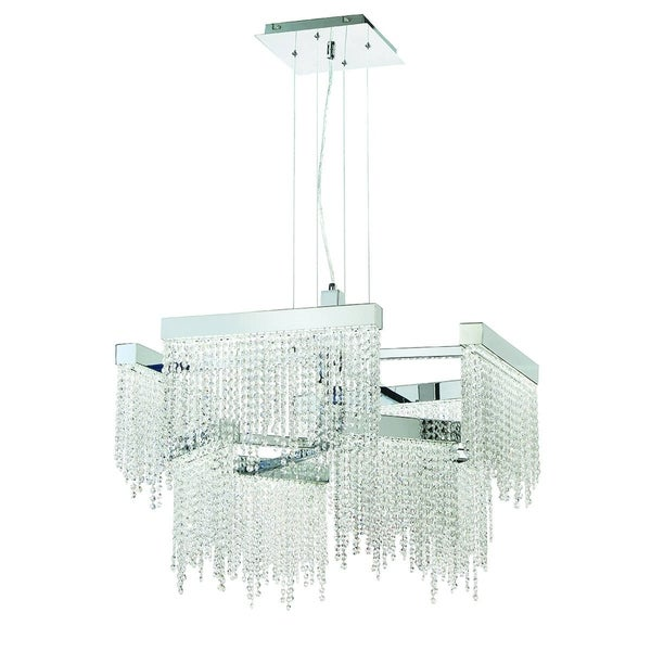 Eurofase Rossi 8-Light Large LED Chandelier, Chrome Finish - 29071-012