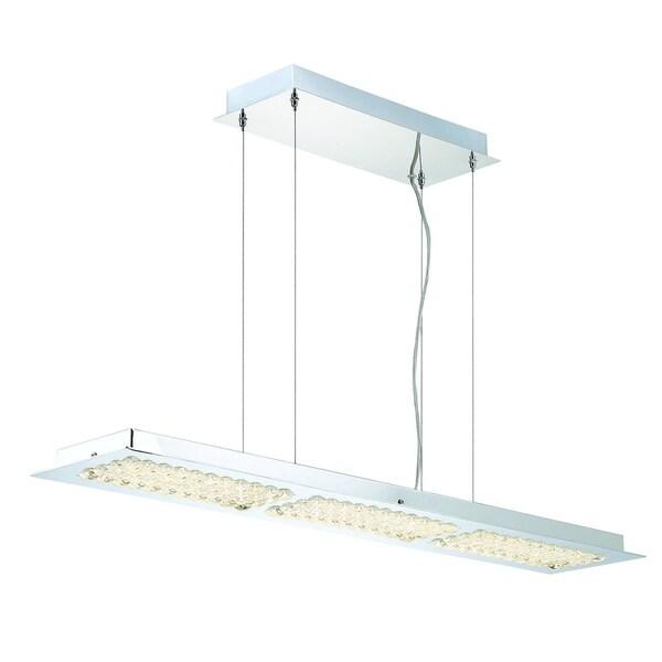 Eurofase Denso 3-Light Linear LED Chandelier, Chrome Finish - 29118-014