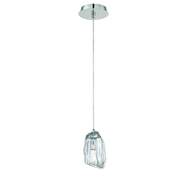 "Eurofase Diffi 1-Light Pendant, Chrome Finish - 30008-014 - 7"" high x 5.5"" in diameter"