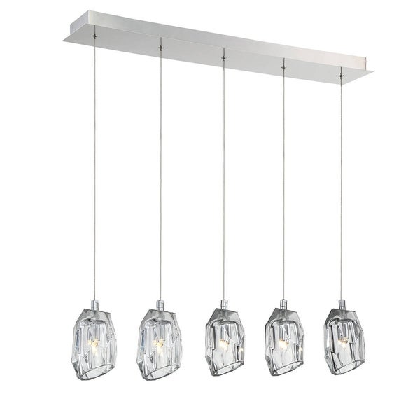 Eurofase Diffi 5-Light Linear Chandelier, Chrome Finish - 29089-017