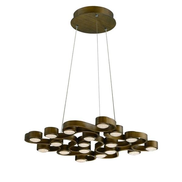 "Eurofase Pallazo 18-Light LED Chandelier, Bronze Finish - 30067-011 - 2"" high x 24"" long x 24"" wide"