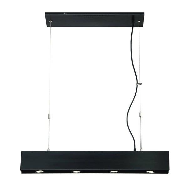 Eurofase Niss 4-Light LED Pendant, Black Finish - 30295-018
