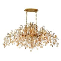 Eurofase Campobasso 10-Light Oval Chandelier, Gold Finish - 29061-013