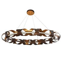 Eurofase Banderia Draped Ribbons LED Ring Chandelier, Bronze Finish, 43.75 Inches in Diameter - 30079-014
