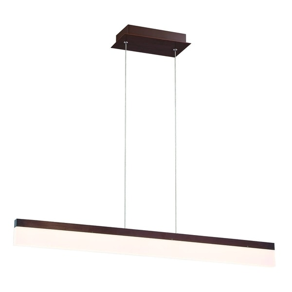 Eurofase Tunnel Minimalist Opal LED Linear Light Pendant, Bronze Aluminum Finish, 36 Inches Long - 31467-018