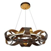 Eurofase Banderia Draped Ribbons LED Small Ring Chandelier, Bronze Finish - 30081-017