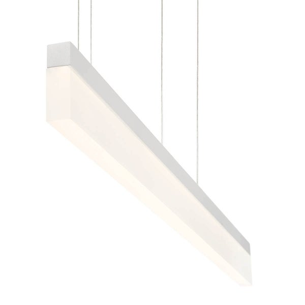 Eurofase Tunnel Minimalist Opal LED Linear Light Pendant, White Aluminum Finish, 36 Inches Long - 31467-023
