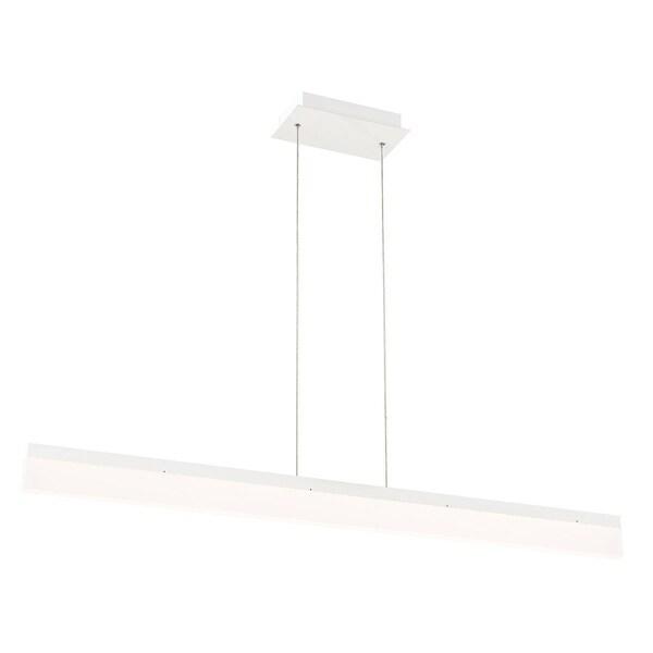 Eurofase Tunnel Minimalist Opal LED Linear Light Pendant, White Aluminum Finish, 46.5 Inches Long - 31775-040