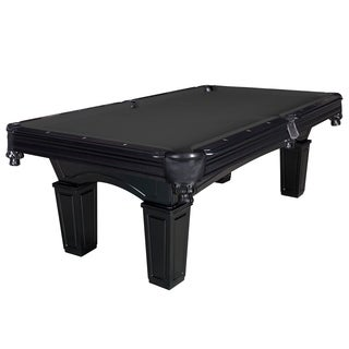 Cobra 8-ft Slate Billiard Pool Table w/ Black Felt