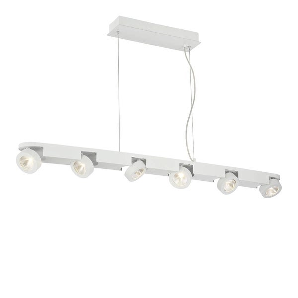 "Eurofase Acura 6-Light LED Light Pendant - 31215-015 - 2.25"" high x 50.25"" long x 4"" wide"