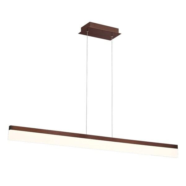 Eurofase Tunnel Minimalist Opal LED Linear Light Pendant, Bronze Aluminum Finish, 46.5 Inches Long - 31775-010