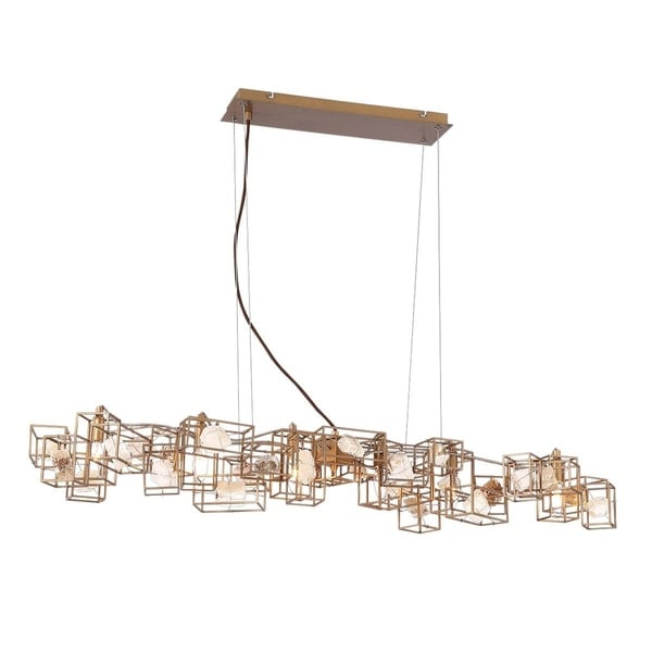 Eurofase Patton Natural Stones Chandelier, Bronze Finish Framing - 31835-015
