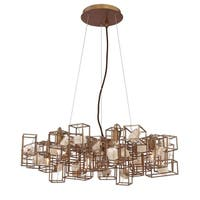 Eurofase Patton Natural Stones Chandelier, Bronze Finish Framing - 31836-012