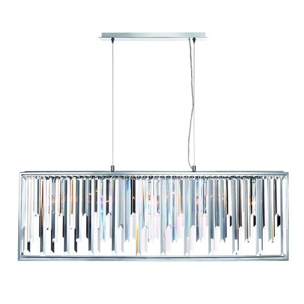 Eurofase Genova Sleek Crystal 5-Light Linear Chandelier - 31902-014