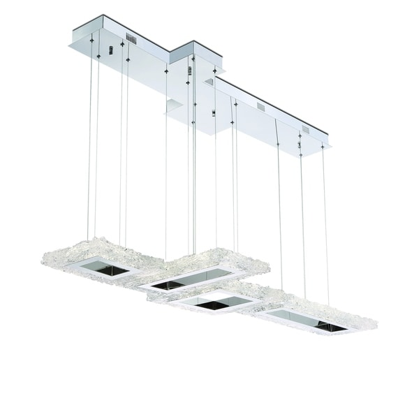 Eurofase Zucchero Configurable LED Chandelier, Handmade Glass, Chrome Finish, 56.75 Inches Long - 31833-011